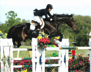 Vita Flex Victory Team rider Patty Stovel competing at Ocala with Carigor Z