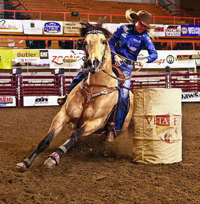 Vita Flex Welcomes Professional Barrel Racer Jackie Ganter to the Vita Flex Victory Team Rider Family