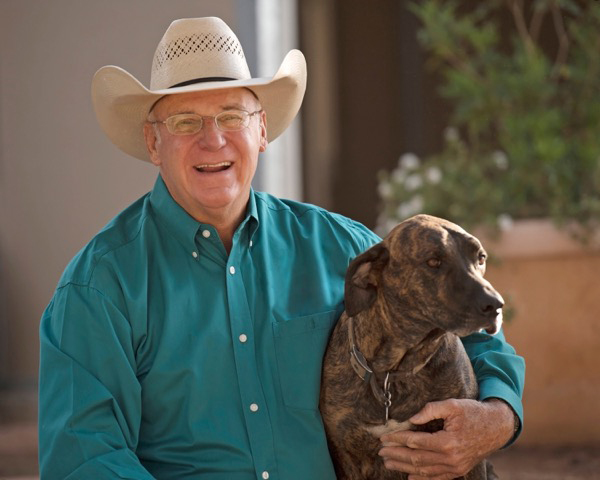 Al Dunning and dog
