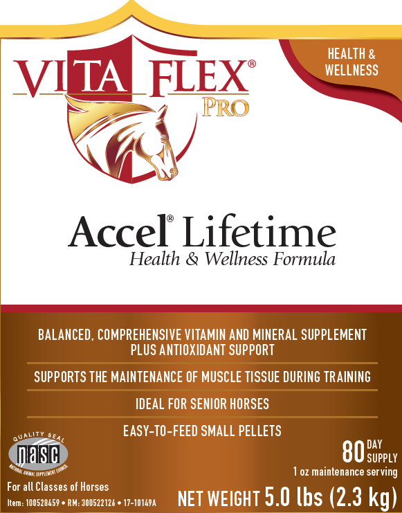 Vita Flex Pro Accel Lifetime Health and Wellness Formula 5lb Label Front