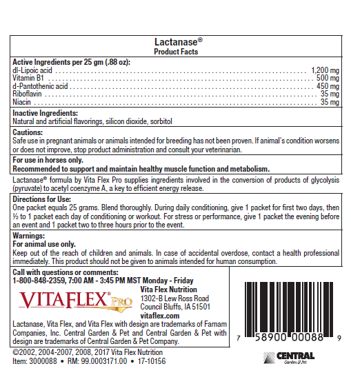 Vita Flex Lactanase Label Back