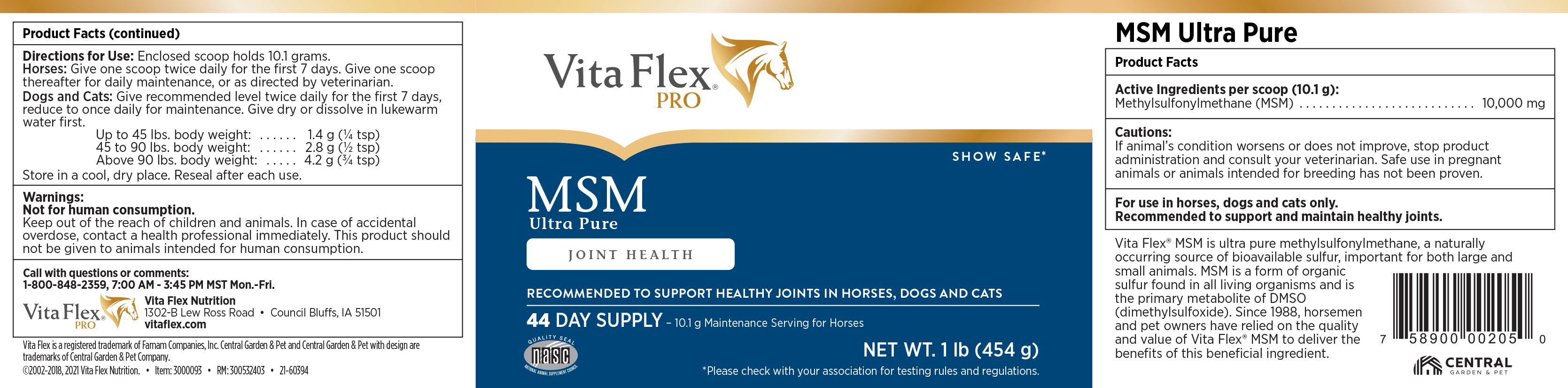 MSM Ultra Pure Supplement - Methylsulfonylmethane for Healthy Joints