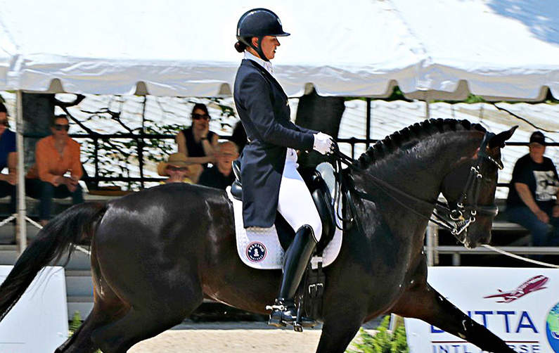 Vita Flex Victory Team Rider Adrienne Lyle and Horse